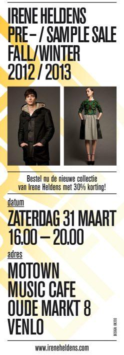 Flyer presale/samplesale Irene Heldens Venlo 2012