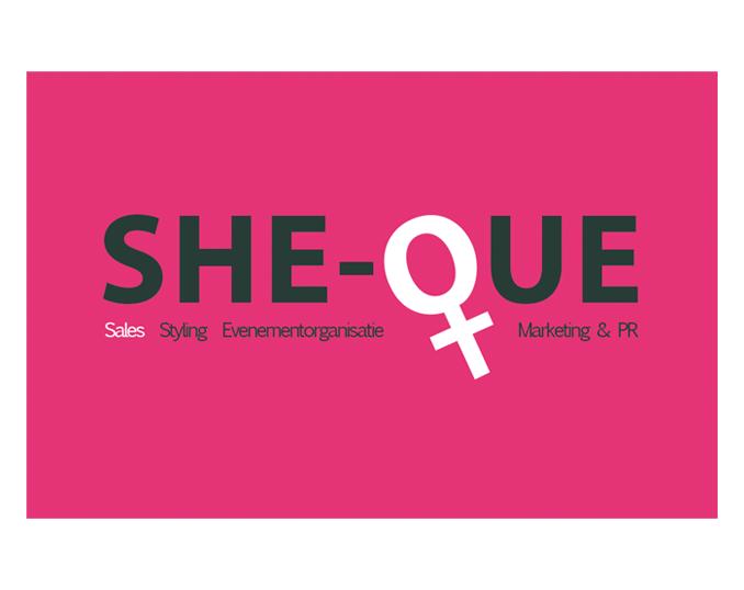 Visitekaartje SHE-QUE voorkant